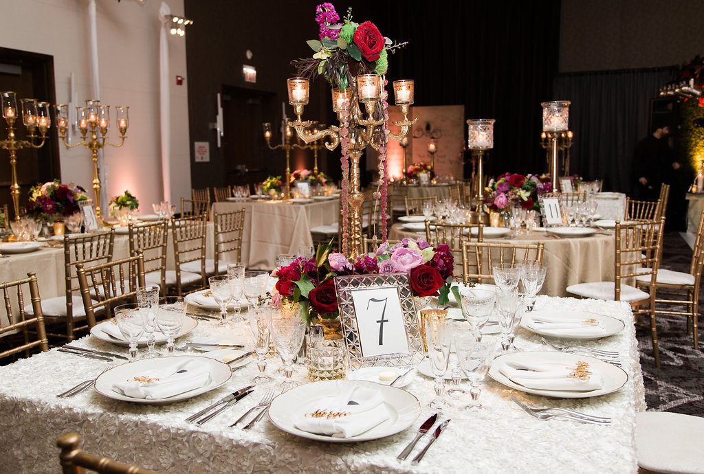 Wedding Reception Table Decor  Fall Color Details  Planning by Wrap It Up Parties
