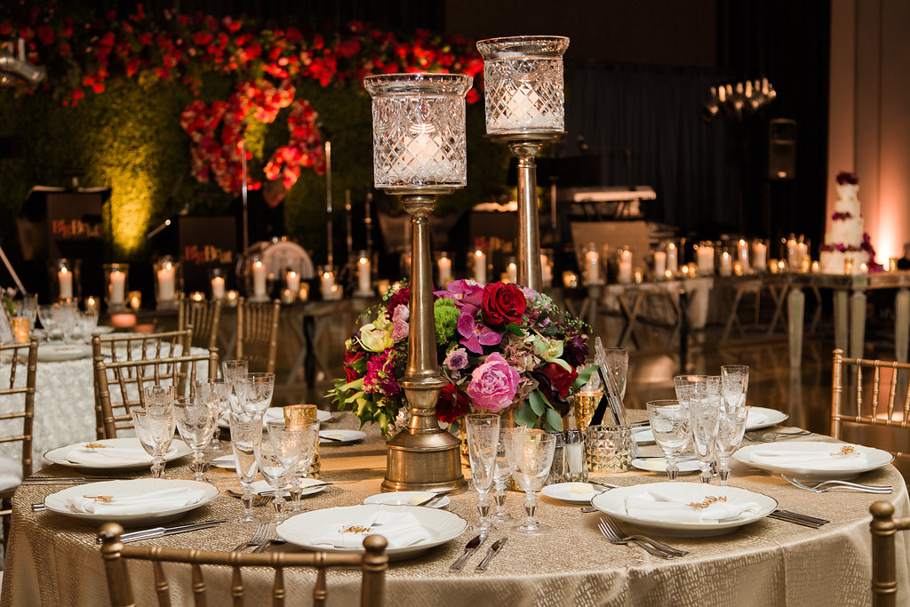 Moody Wedding Reception Decor  Planning by Wrap It Up Parties