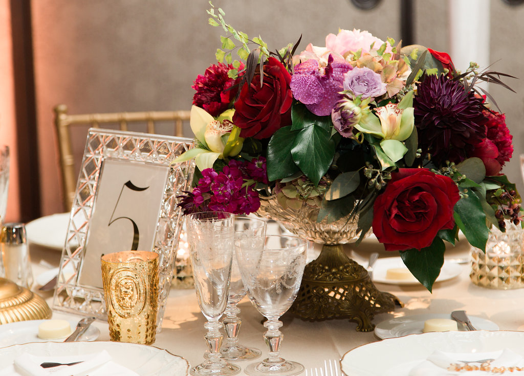 Reception Center Piece  Reception Table Setting  Planning by Wrap It Up Parties