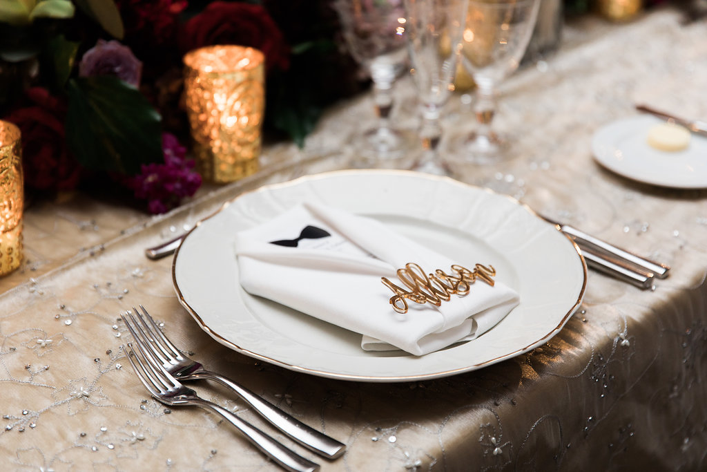 Reception Place Setting  Planning by Wrap It Up Parties