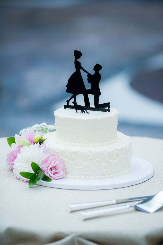 Wedding Cake  Wedding Cake Topper  Planning by Wrap It Up Parties