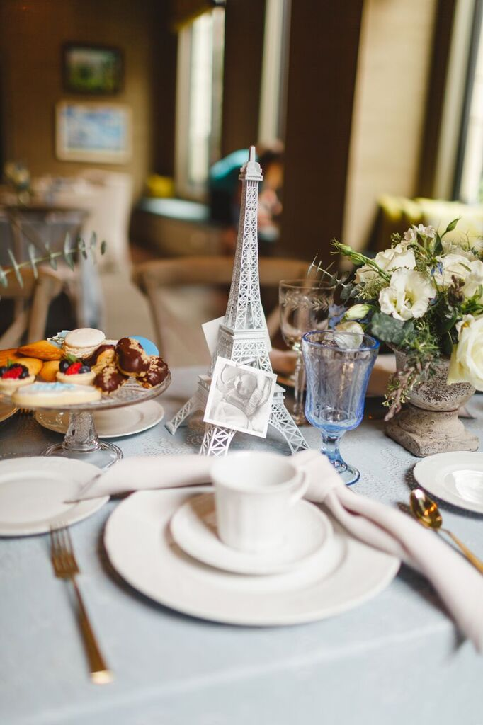 Eiffel Tower Decor  Bonjour Bebe Shower  Planning by Wrap It Up Parties