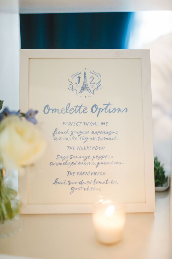 Baby Shower Omelette Menu  Planning by Wrap It Up Parties