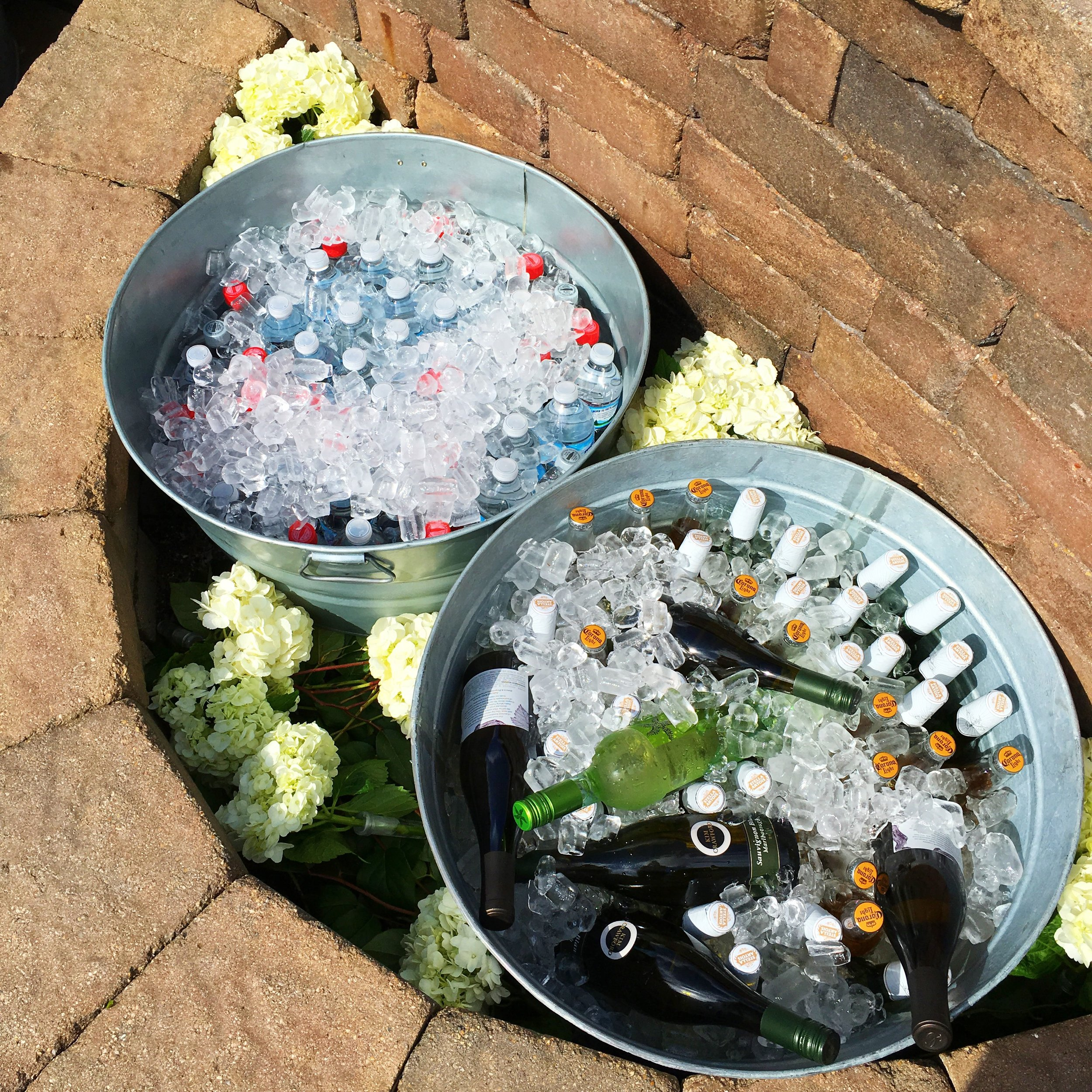 Backyard Graduation Party Drinks  Planning by Wrap It Up Parties