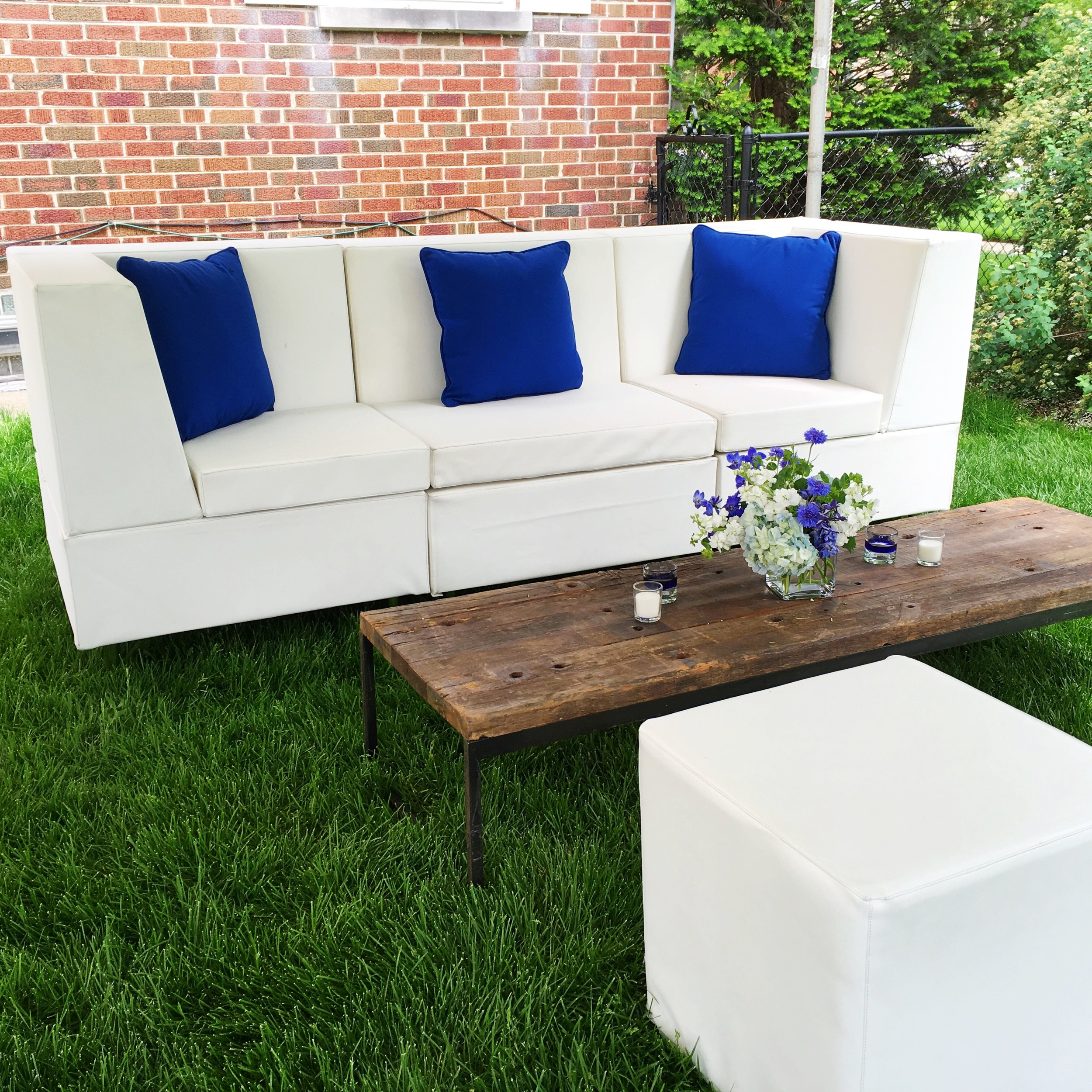Backyard Graduation Party Seating  Planning by Wrap It Up Parties
