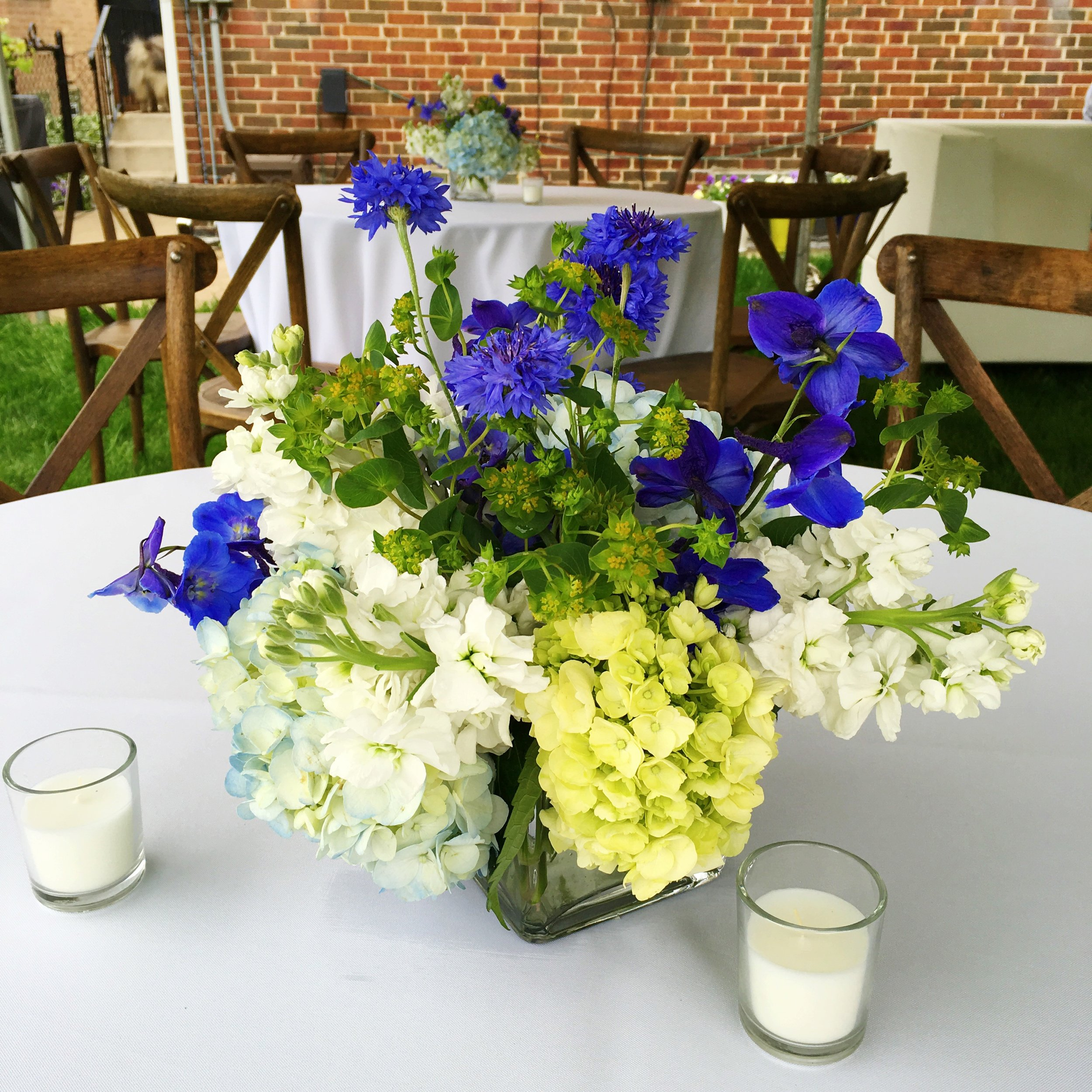 Graduation Party Flowers  Backyard Graduation Party Table Decor  Planning by Wrap It Up Parties