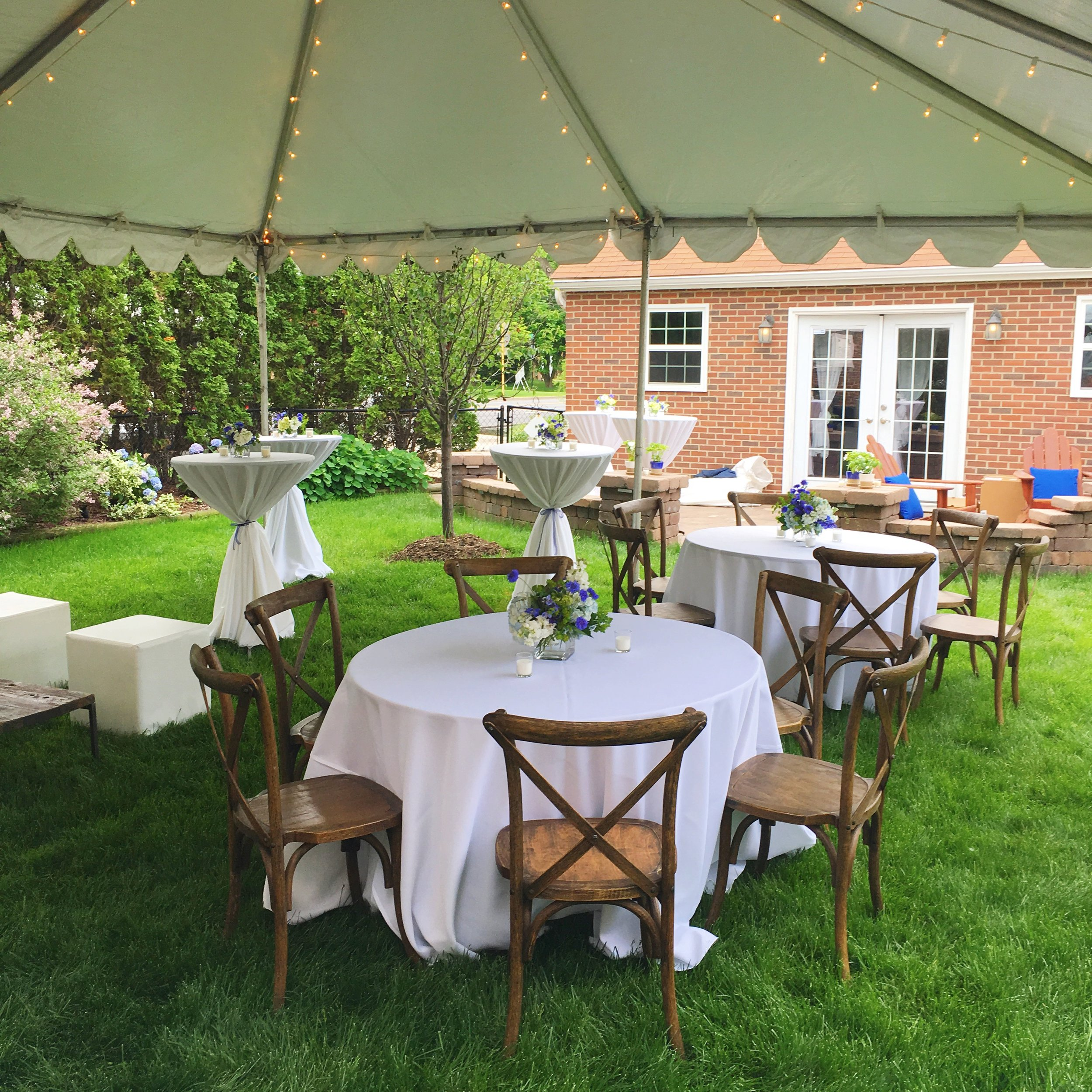 Backyard Graduation Party  Graduation Party Seating  Planning by Wrap It Up Parties