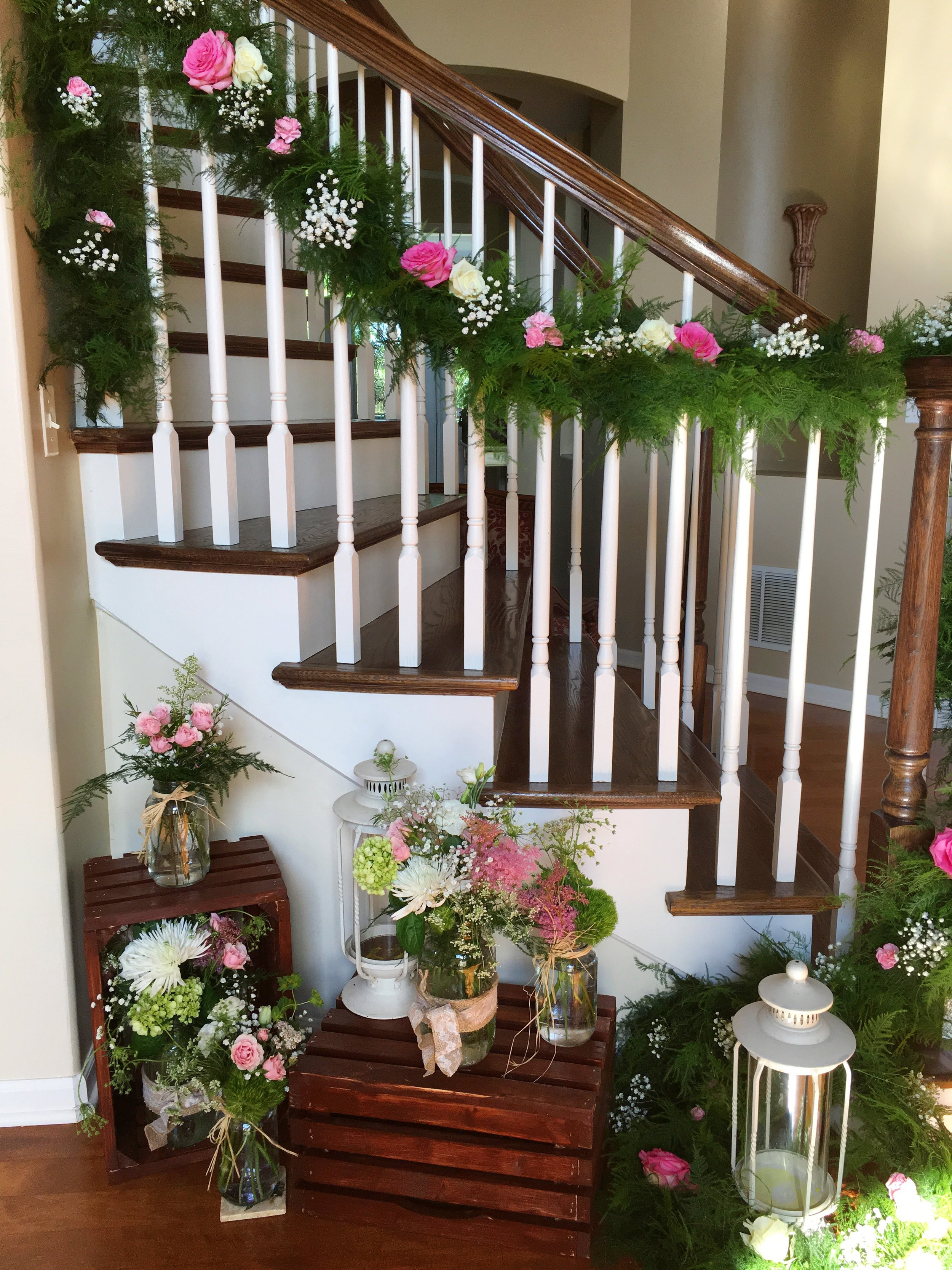 Rustic Graduation Party Floral Decor  Planning by Wrap It Up Parties