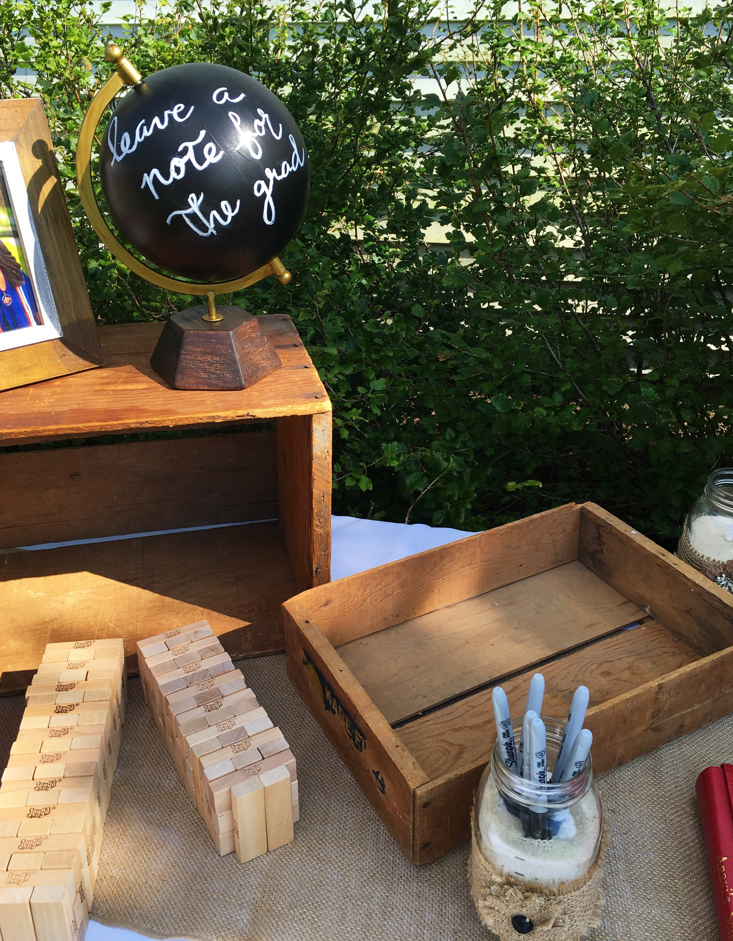 Graduation Note Table  Rustic Graduation Party  Planning by Wrap It Up Parties