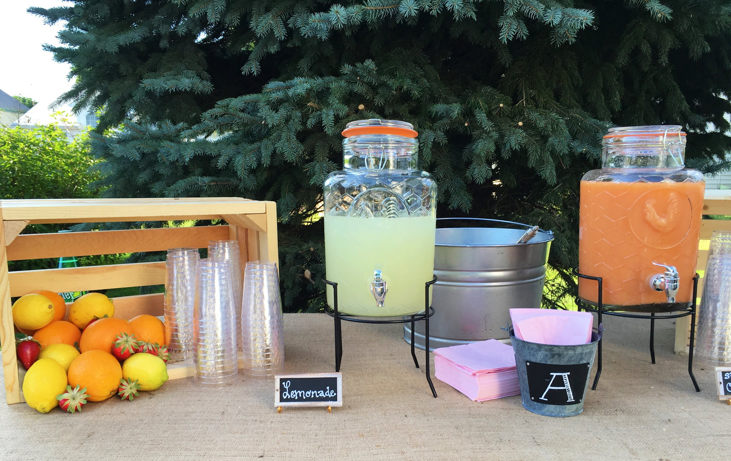Rustic Graduation Party Drink Table  Drink Table Decor  Planning by Wrap It Up Parties