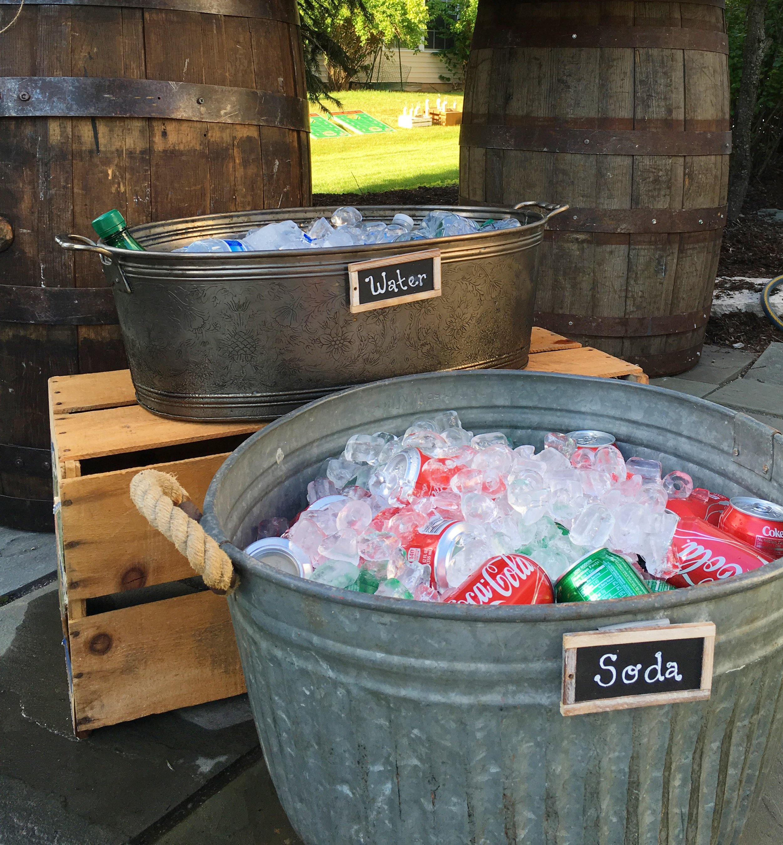 Rustic Graduation Party  Rustic Party Drink Decor  Planning by Wrap It Up Parties