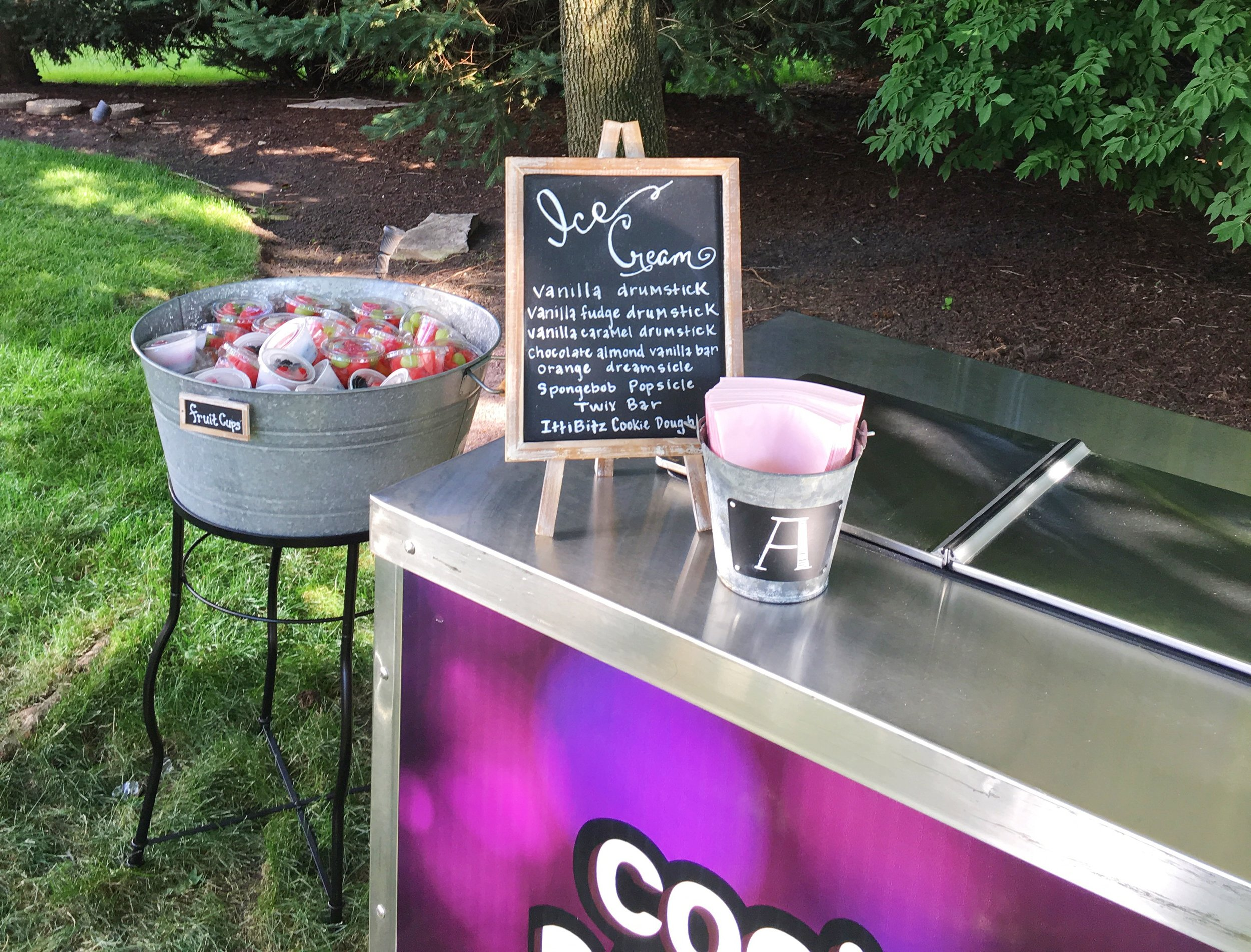 Rustic Graduation Party  Ice Cream Cart  Planning by Wrap It Up Parties
