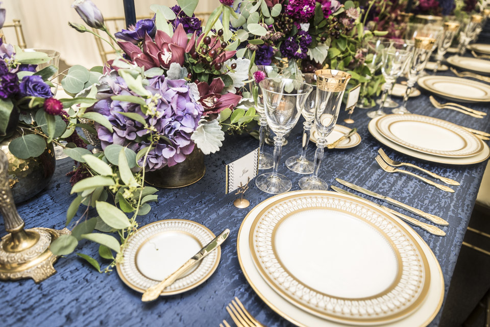 Retirement Party Decor  Navy and Gold Table Decor  Planning by Wrap It Up Parties