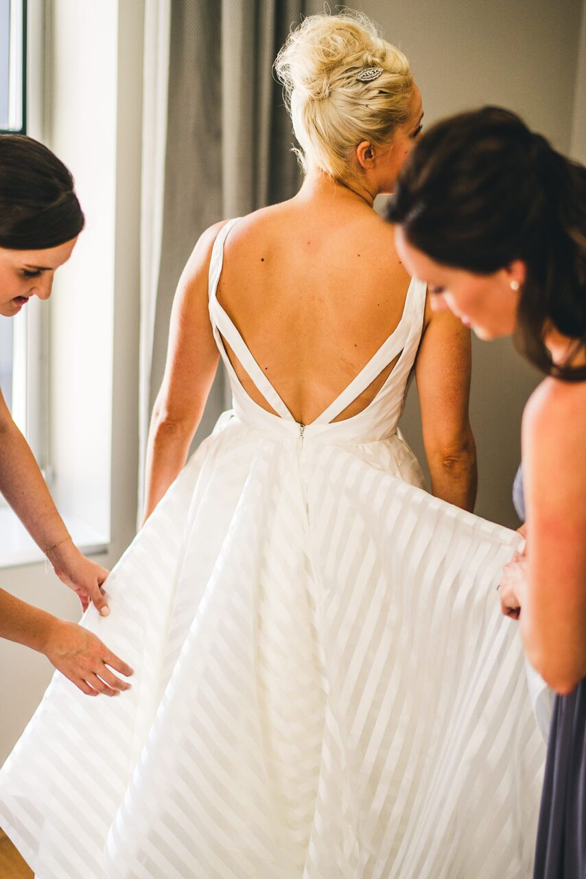 Wedding Dress  Bride Getting Ready  Planning by Wrap It Up Parties