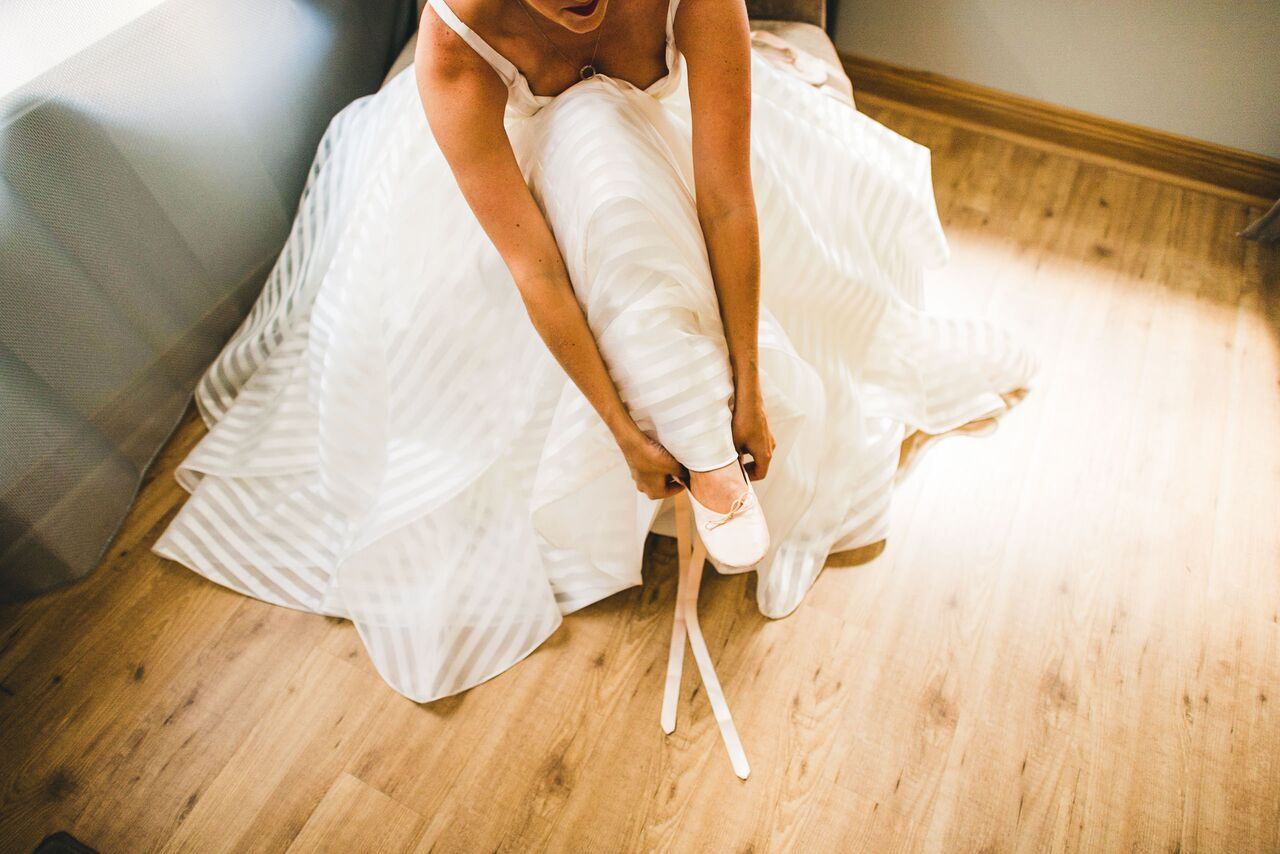 Wedding Dress  Bridal Ballet Slippes  Planning by Wrap It Up Parties