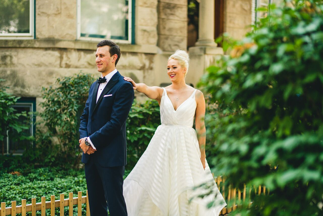 First Look  Bride and Groom  Planning by Wrap It Up Parties