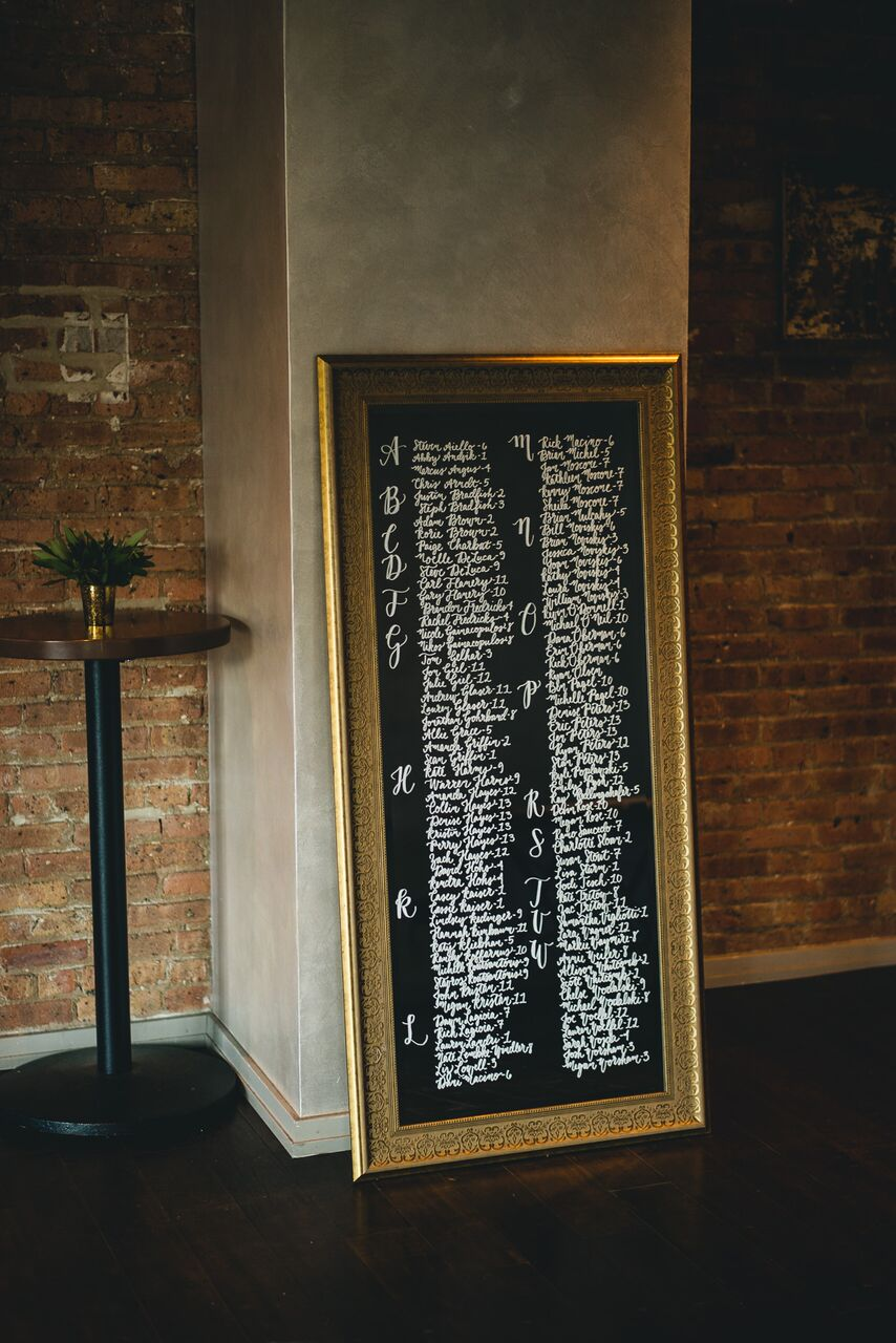 Reception Seating Chart Decor  Planning by Wrap It Up Parties