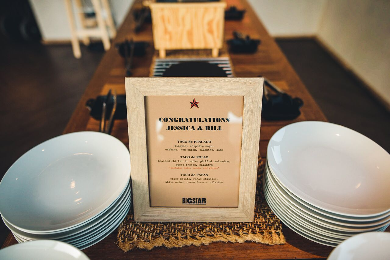 Fun Wedding Reception Food  Big Star Tacos  Planning by Wrap It Up Parties