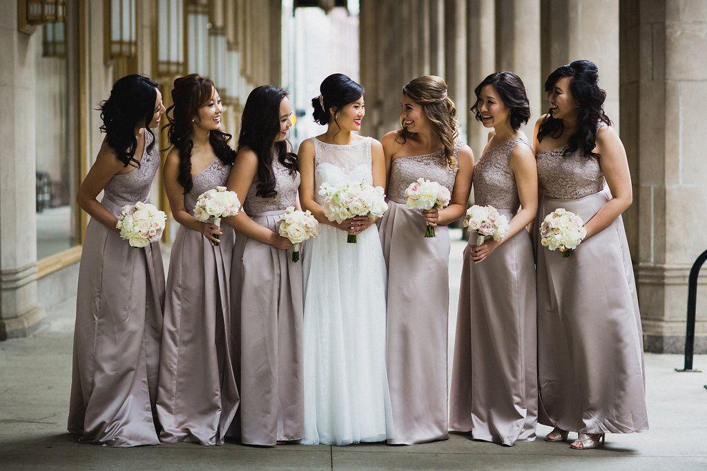 Mauve Bridesmaid Dresses  Planning by Wrap It Up Parties