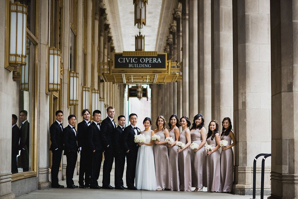 Bridal Party  The Peninsula Chicago  Planning by Wrap It Up Parties
