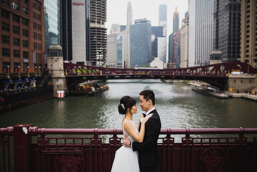 Bride and Groom  Chicago Wedding  Planning by Wrap It Up Parties