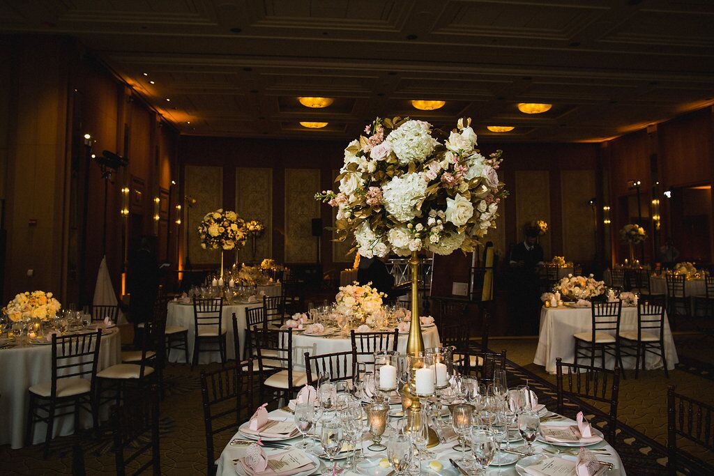 Reception Decor  The Peninsula Chicago  Planning by Wrap It Up Parties
