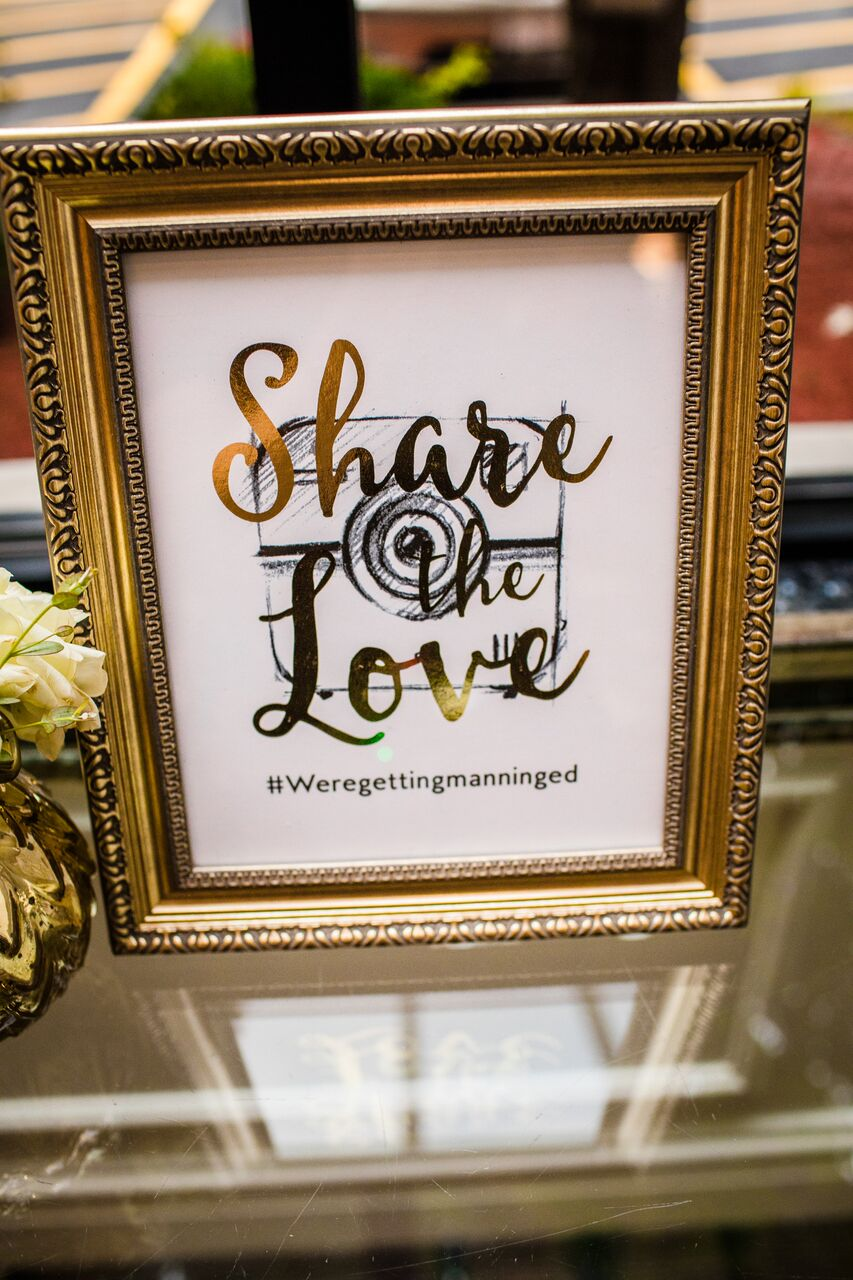 Wedding Hashtag Decor  Planning by Wrap It Up Parties