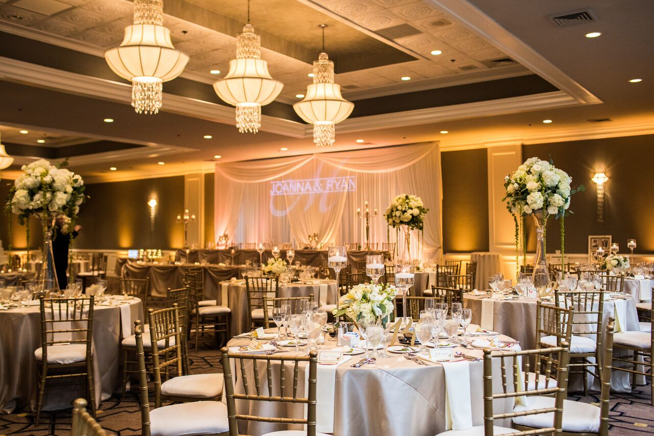 Wedding Reception Decor  White and Green Floral Decor  Planning by Wrap It Up Parties