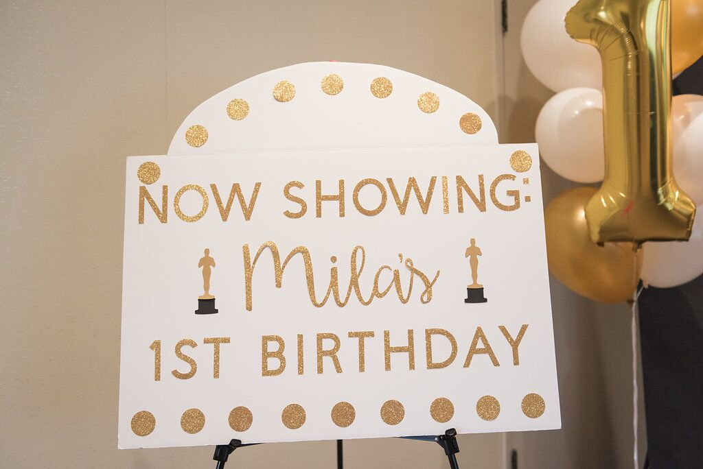 First Birthday Party  Hollywood Award Show Party Decor  Planning by Wrap It Up Parties
