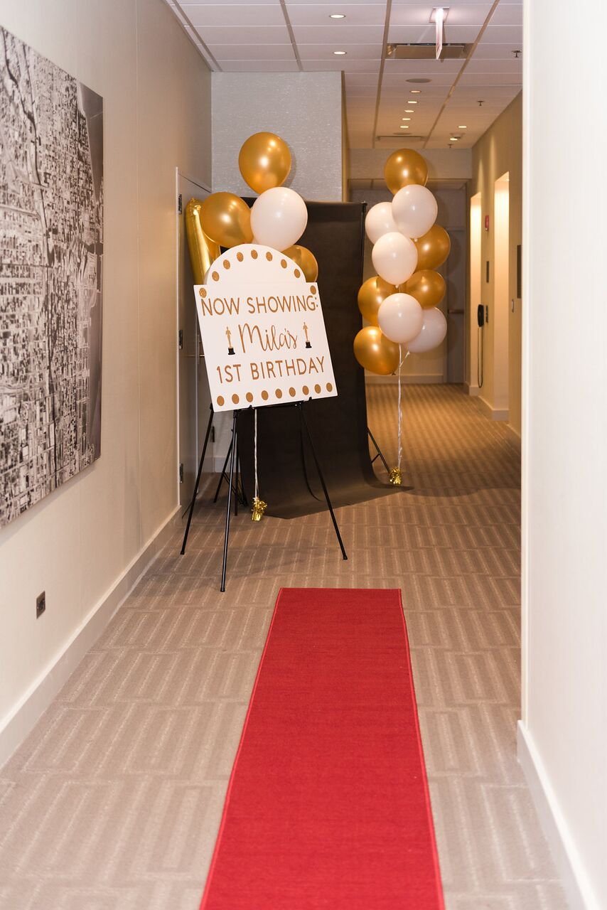 Hollywood Party Decor  Red Carpet First Birthday  Planning by Wrap It Up Parties