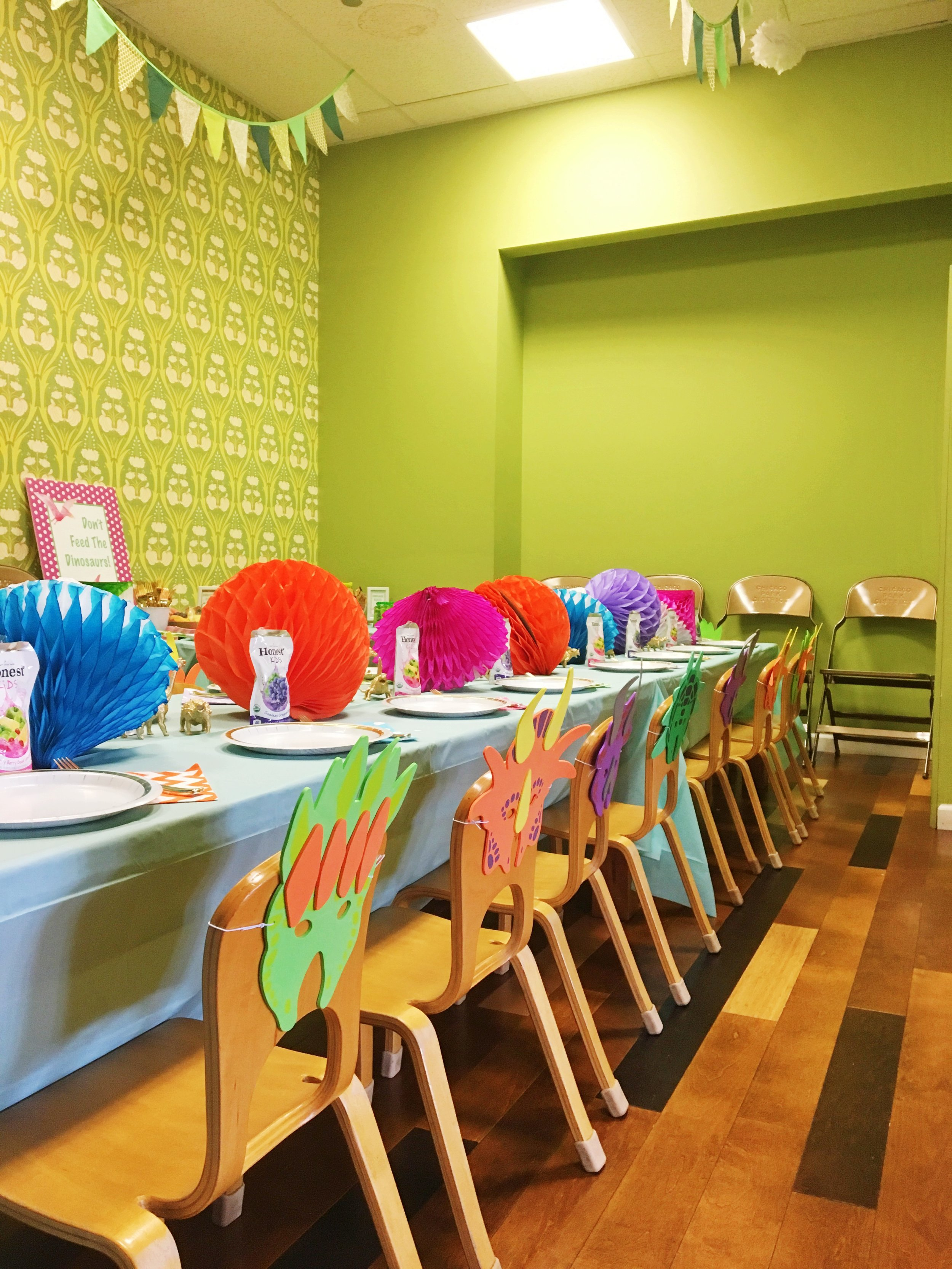 Dinosaur Theme Birthday Party  Birthday Party Seating  Planning by Wrap It Up Parties