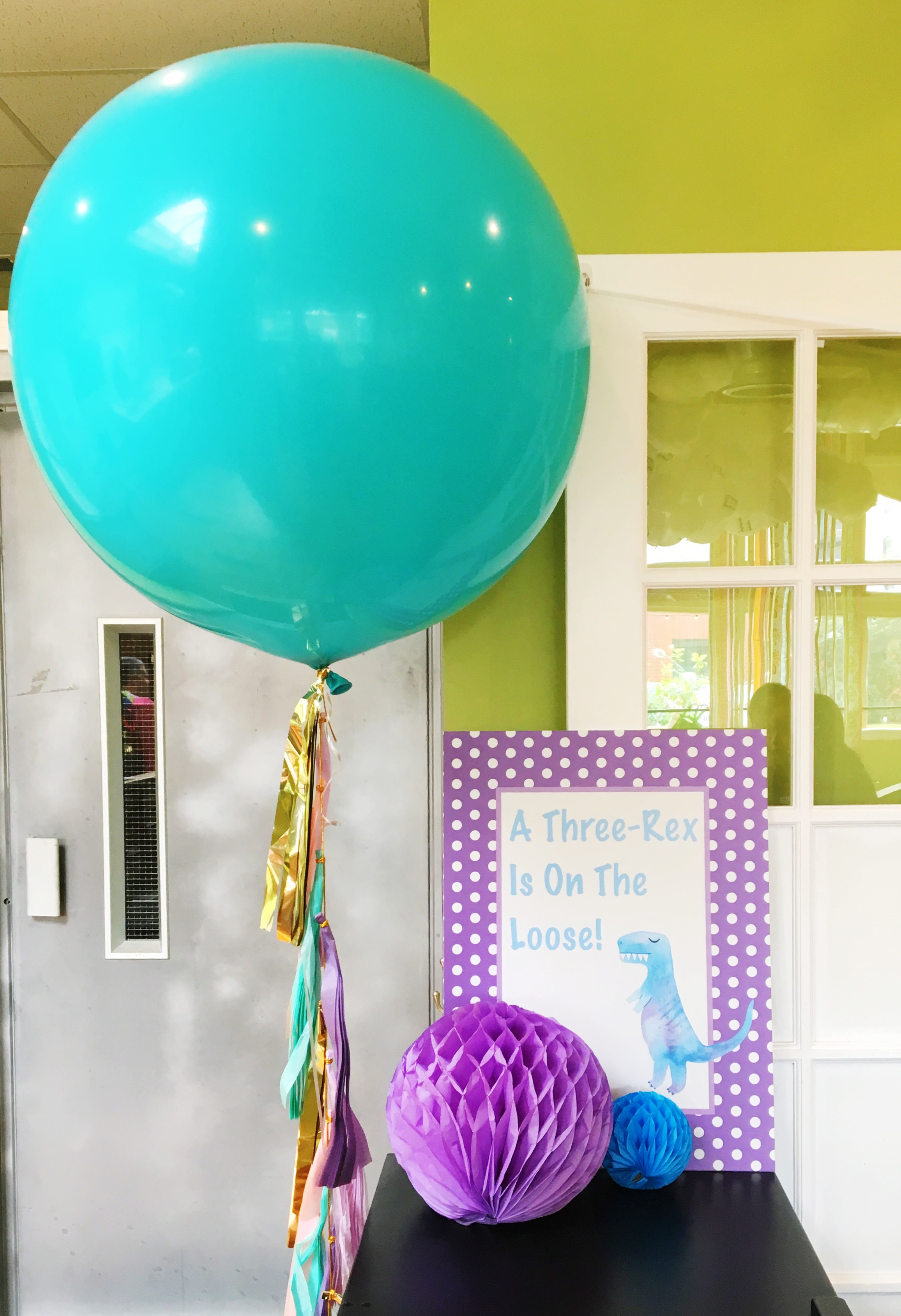 Three-Rex Birthday Party Decor  Dinosaur Theme Birthday  Planning by Wrap It Up Parties