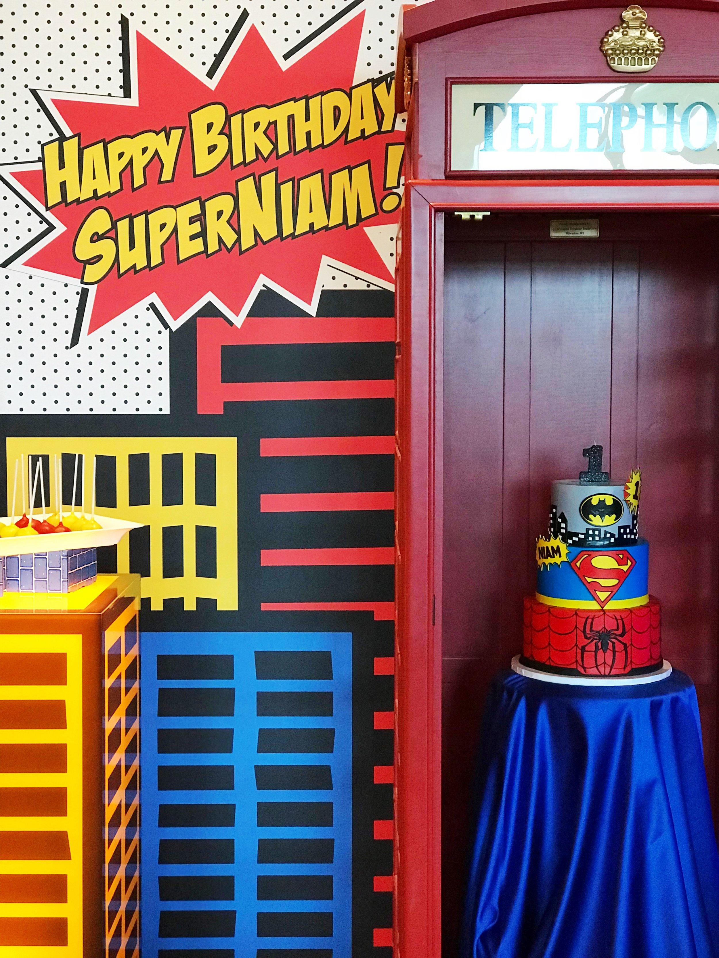 A SUPER 1st Birthday Bash