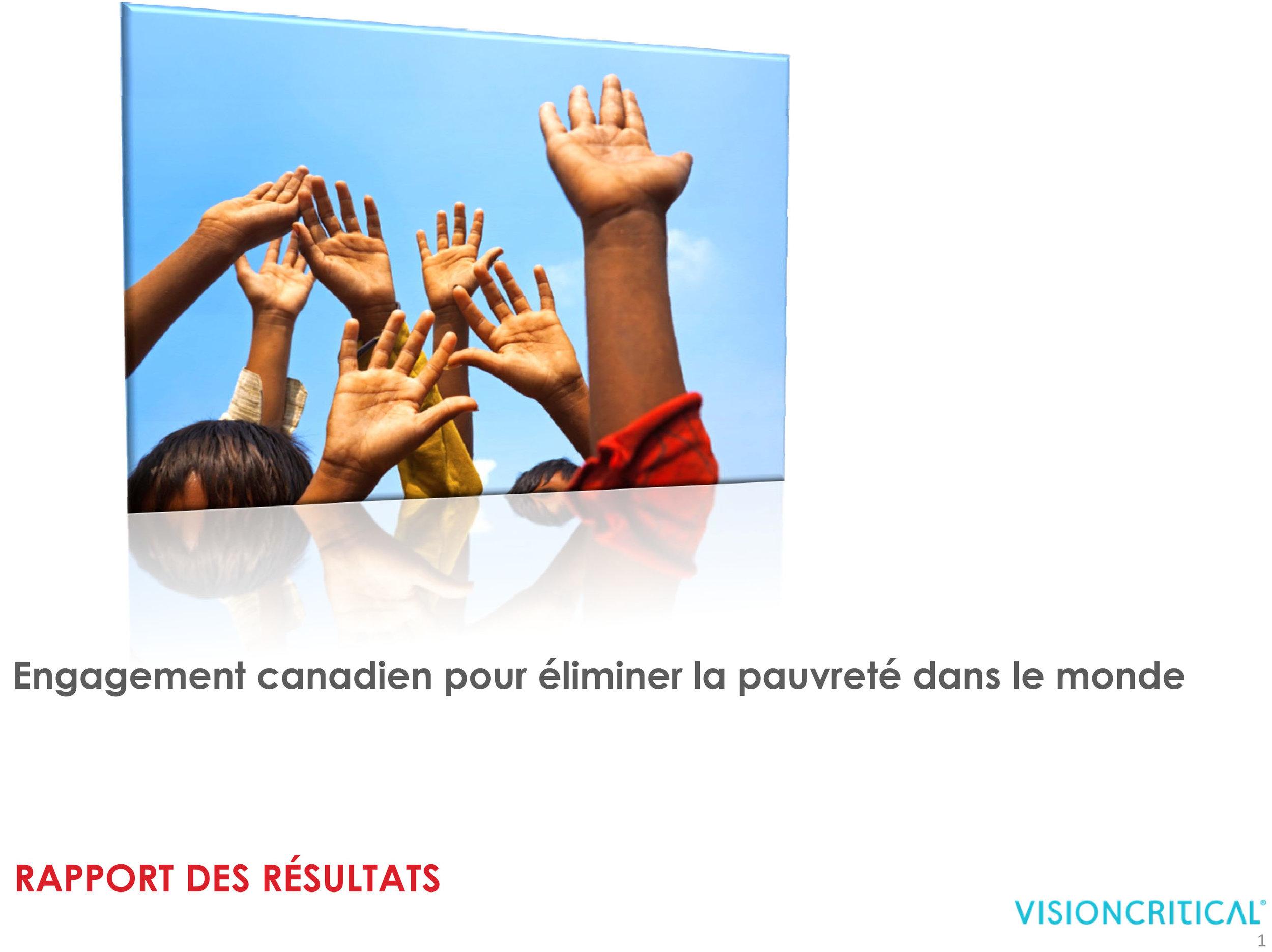 Engagement canadien pour éliminer la pauvreté dans le monde