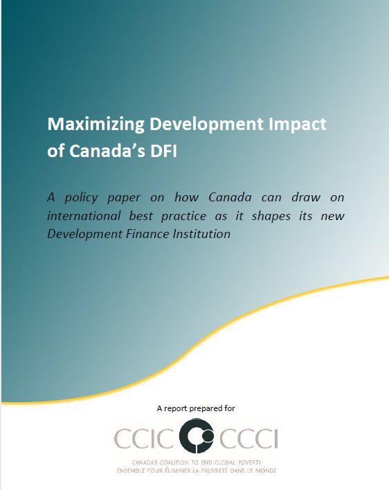 Maximizing Development Impact of Canada's DF