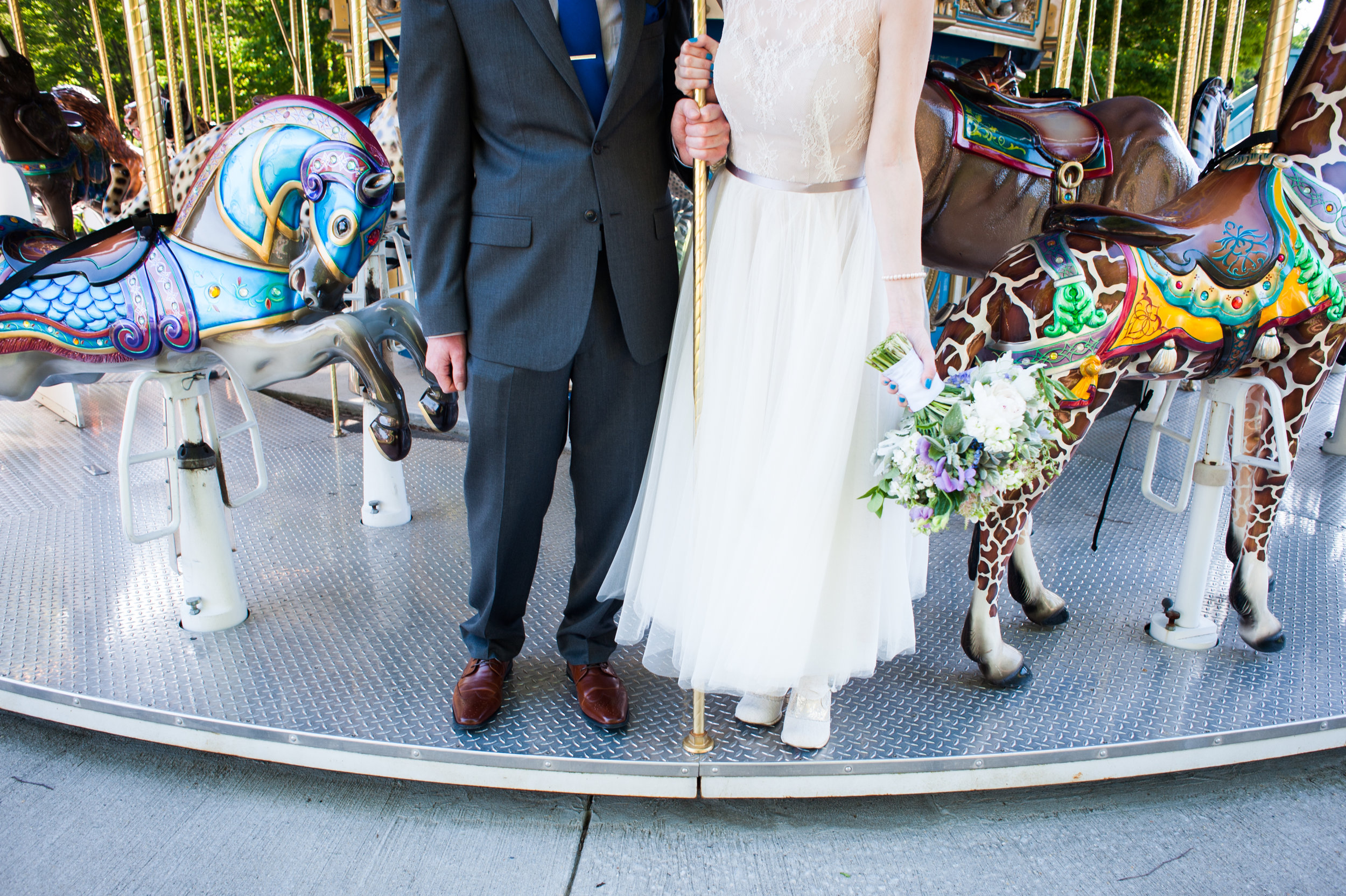 Couple on carousel at the Baltimore Zoo