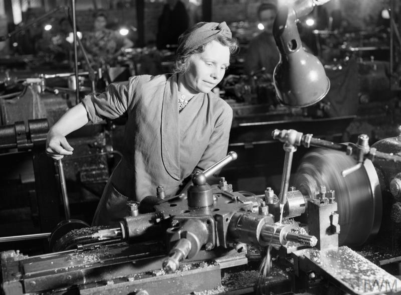 Woman working in a munitions factory, 1942. ©  IWM (D 8598)