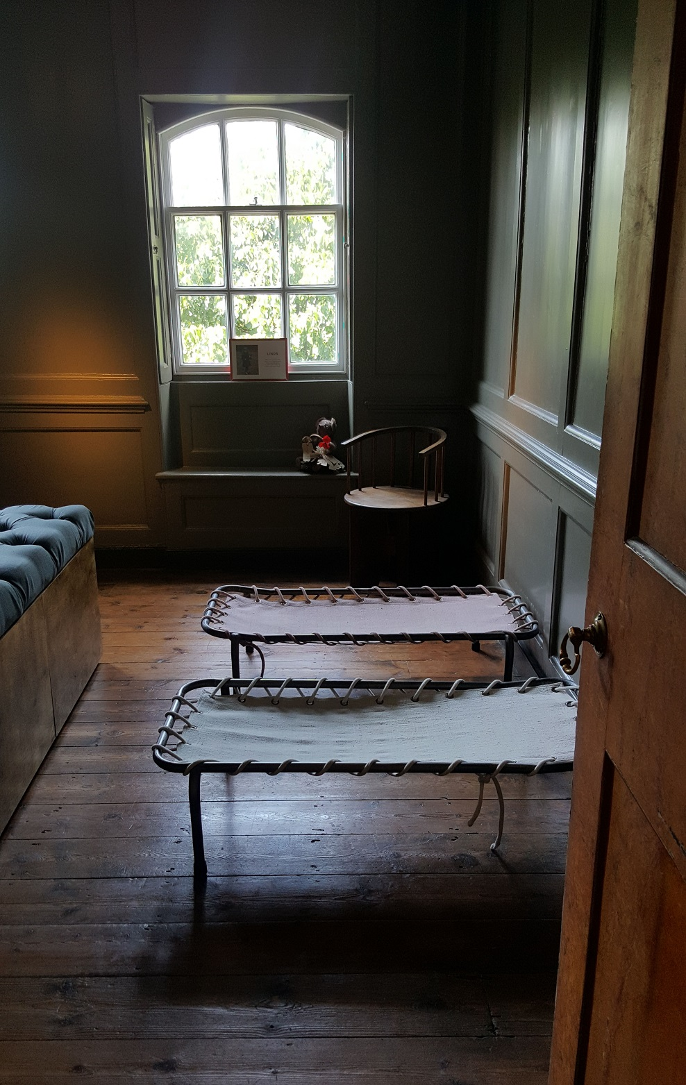 A room in Rainham Hall set up as it would have been in the 1940s Day Nursery for children to nap – Copyright with the author