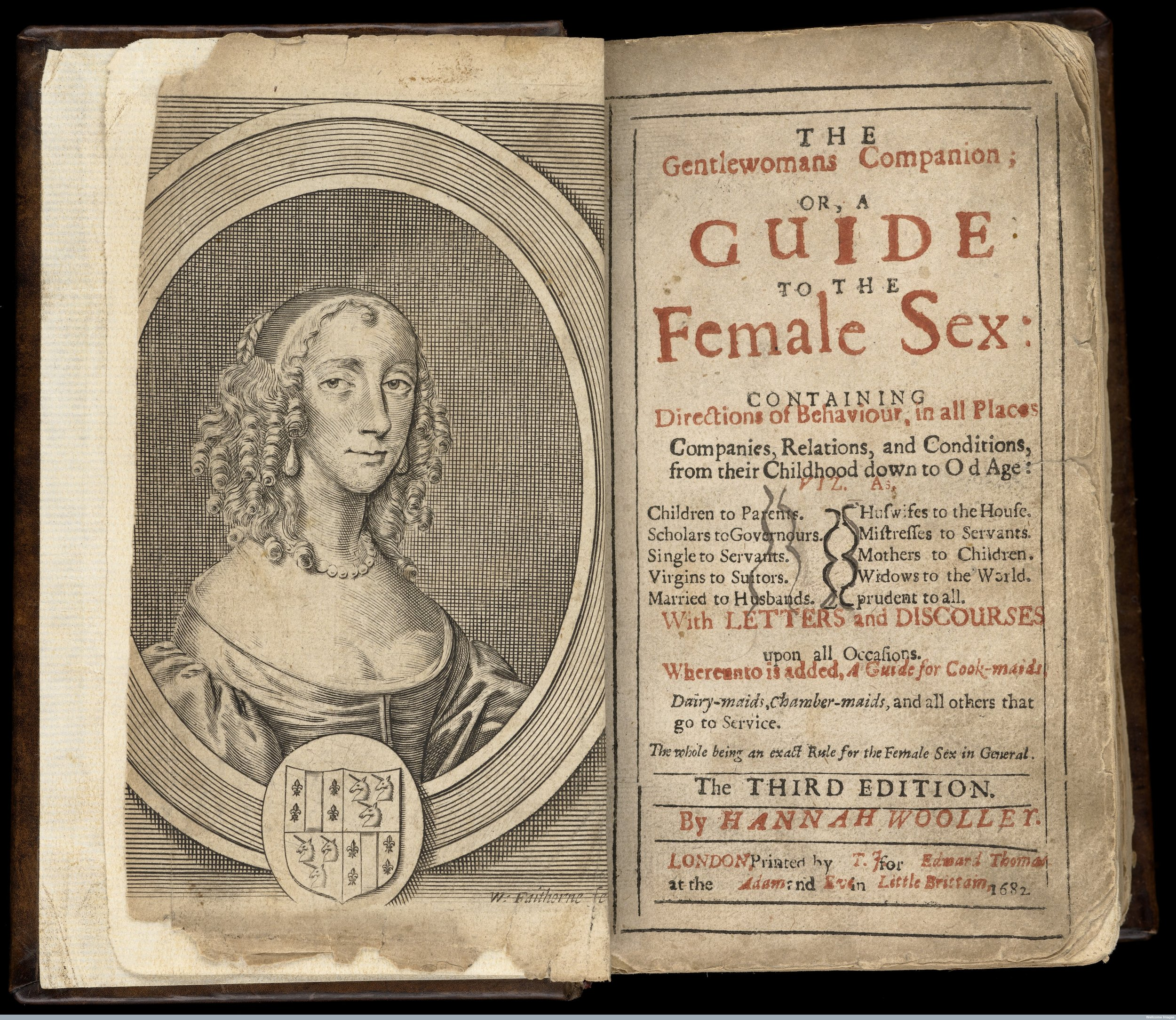 Reproduction of 'The gentlewomans companion' 1682.  Wellcome Library , London.