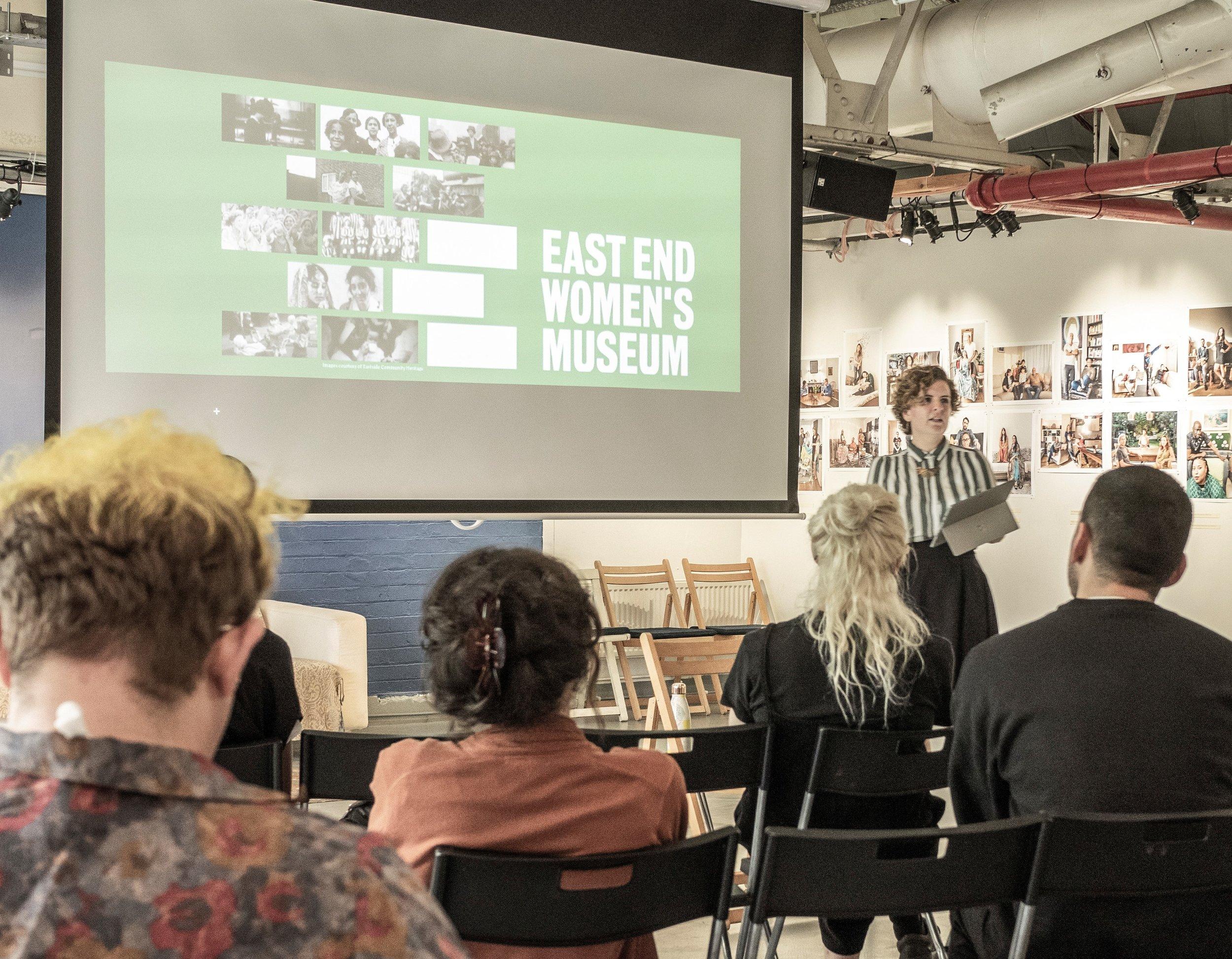 Rachel Crossley, Museum Director, presenting at a symposium (c) Debbie Sears