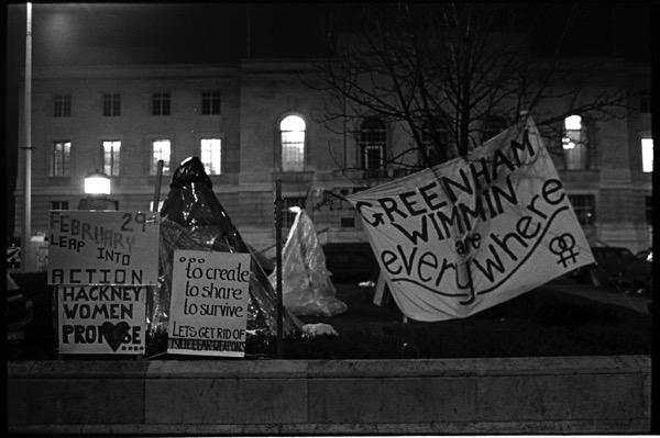 Hackney Women's Peace Camp, photograph by  David Hoffman .