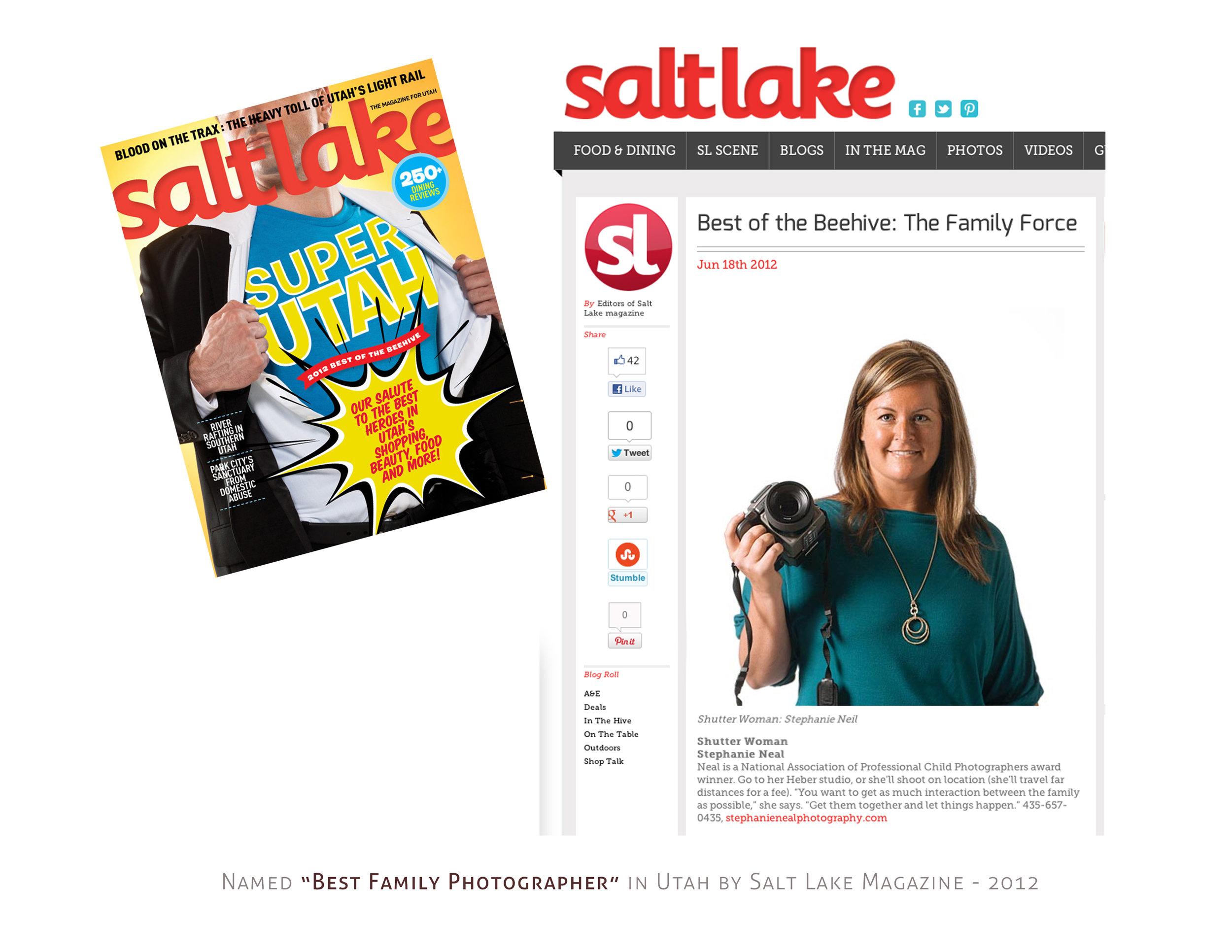 Salt Lake Best of the Beehive award