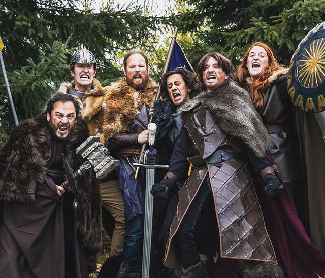 In honour of #gameofthrones we made an Epic Hero Speech sketch with some hilarious people!! Link in bio if you want to check it out 👍🏼 . . #comedy #cbc #cbccomedy #sketch #shortfilm #epic #heroes #funny @cbccomedy
