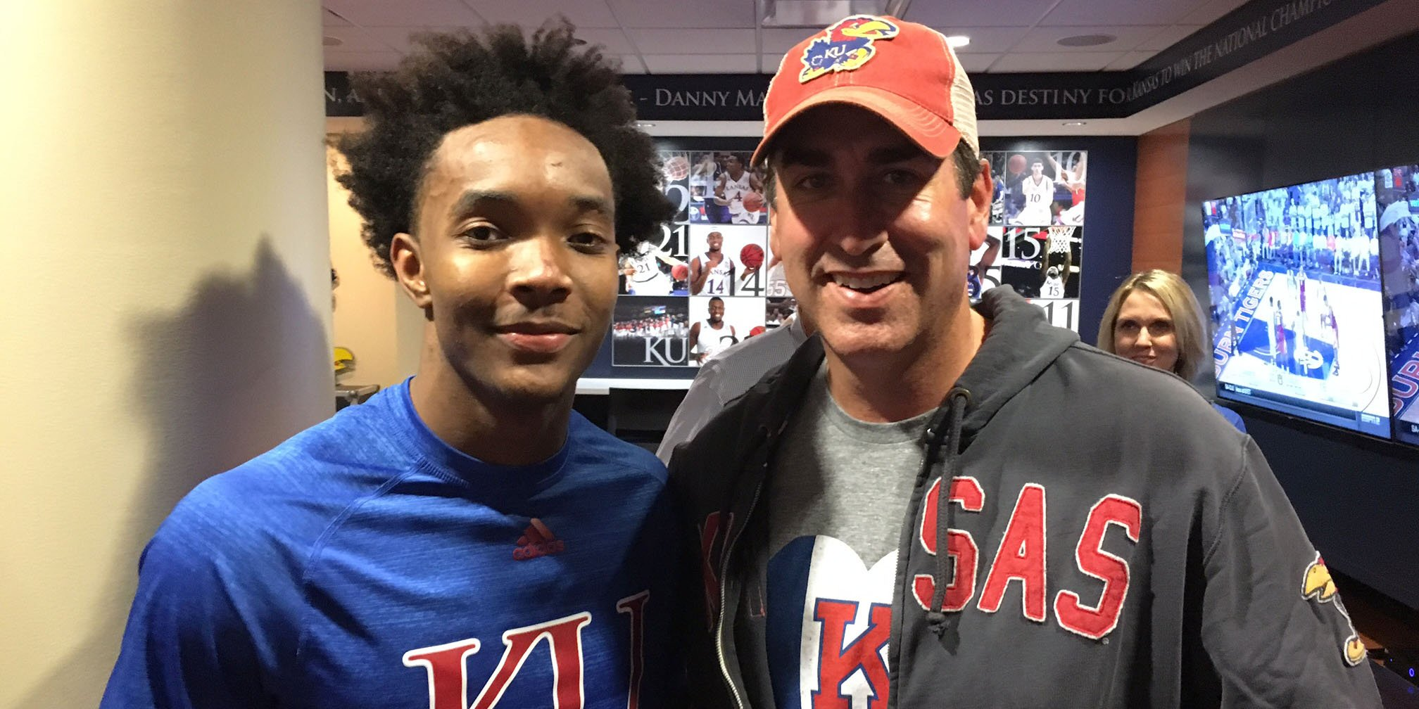 Devonte Graham and Brother Rob Riggle