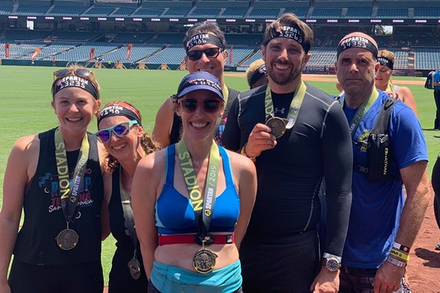 """#MedalMonday goes out to all of our athletes who finished the @spartan Stadion race at Angel Stadium of Anaheim this weekend.⠀⠀⠀⠀⠀⠀⠀⠀⠀ ⠀⠀⠀⠀⠀⠀⠀⠀⠀ We just wrapped up our Stairway to Stadium Challenge, designed specifically to get participants ready for this race. Here are some of the results our athletes achieved this weekend:⠀⠀⠀⠀⠀⠀⠀⠀⠀ ⠀⠀⠀⠀⠀⠀⠀⠀⠀ *Four clean (burpee-free) races!⠀⠀⠀⠀⠀⠀⠀⠀⠀ ⠀⠀⠀⠀⠀⠀⠀⠀⠀ One person ran two back-to-back races in the same day (for the first time)!⠀⠀⠀⠀⠀⠀⠀⠀⠀ ⠀⠀⠀⠀⠀⠀⠀⠀⠀ One person realized it's time to level up and race age group/elite!⠀⠀⠀⠀⠀⠀⠀⠀⠀ ⠀⠀⠀⠀⠀⠀⠀⠀⠀ One person said """"I didn't hate it and I had fun!""""⠀⠀⠀⠀⠀⠀⠀⠀⠀ ⠀⠀⠀⠀⠀⠀⠀⠀⠀ Numerous reports of """"I completed (fill in the blank) obstacle for the first time without help!⠀⠀⠀⠀⠀⠀⠀⠀⠀ ⠀⠀⠀⠀⠀⠀⠀⠀⠀ Too many smiles, hugs and high-fives to count!⠀⠀⠀⠀⠀⠀⠀⠀⠀ In short, we are over-the-moon proud of everyone from our RUTSM family who went all-in on our four week challenge and got to celebrate the fruits of their labor on the course this weekend!"""