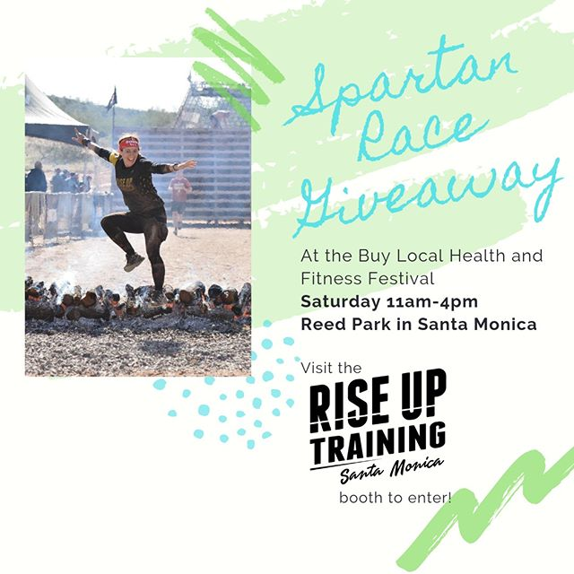 Come see us this Saturday at the @smchamber Buy Local Health and Fitness Festival. This is an amazing event featuring small and local fitness and wellness businesses - and hey, that's us! We'll have a booth at the event where you can enter to win a free @spartanrace - no purchase necessary! Coach Robin will be leading a mini workout on the main stage at 12:15pm, so come out, get a good sweat on, grab some swag (we will have some of that, too) and maybe just maybe you can win a free Spartan Race!⠀⠀⠀⠀⠀⠀⠀⠀⠀ ⠀⠀⠀⠀⠀⠀⠀⠀⠀ Get all the details at http://smchamber.com/wblf/