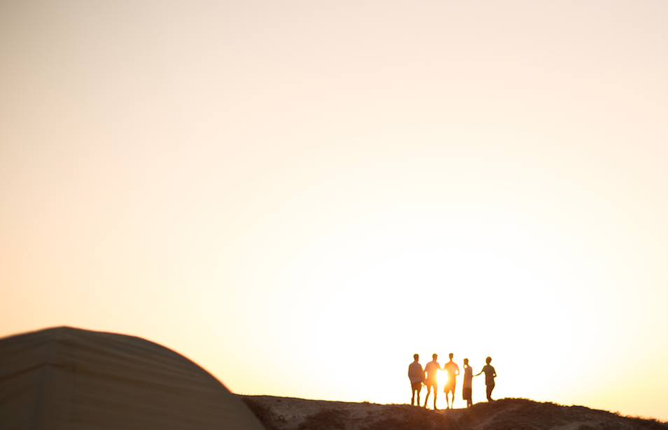 Sunset_Group_of_People