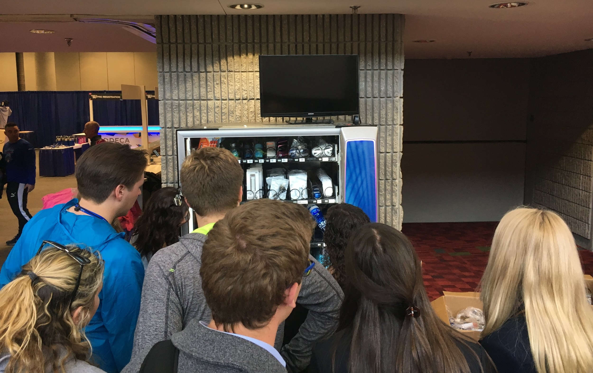 The Shop DECA Spirit Box was active, generating almost $4K in revenue in less than 3 days! We plan to have 4 Spirit Boxes setup at ICDC 2019.