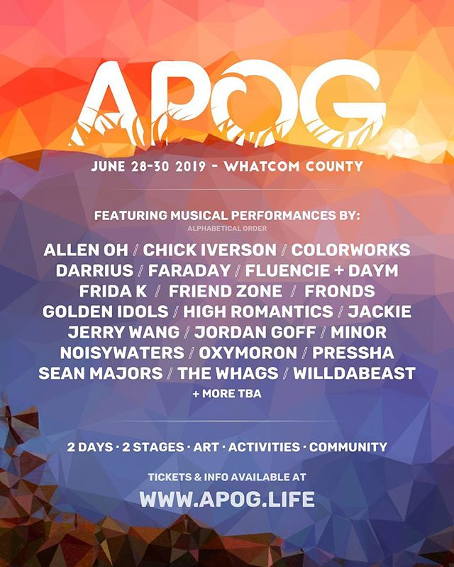 We're excited to perform with some of our good friends at APOG fest next month! Come on out and boogie! 🎷🌅
