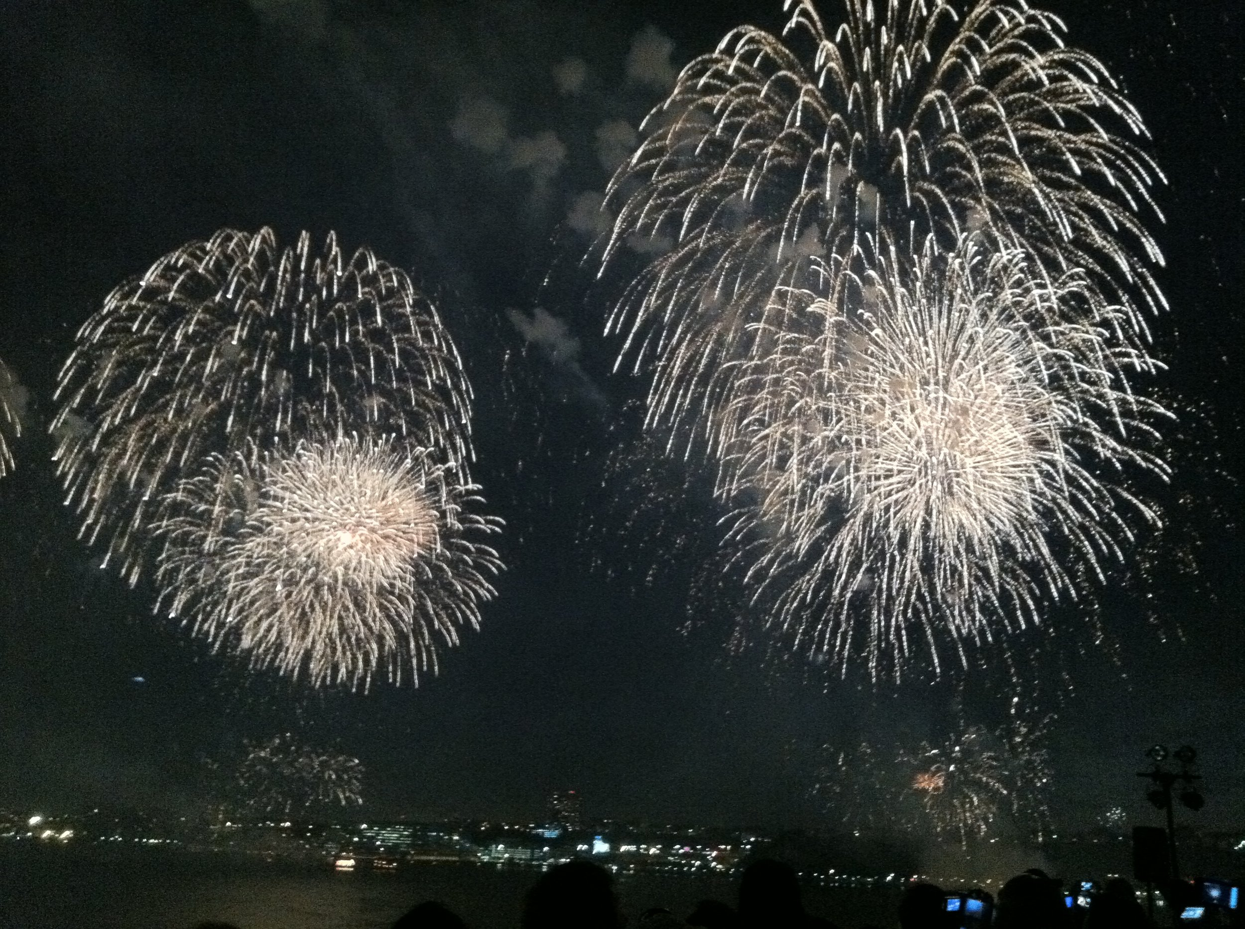 The Great Bonac Fireworks show over Three Mile Harbor in July.